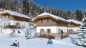 Ski in/ski out chalety ve vyhledávaném zimním středisku Fanningberg