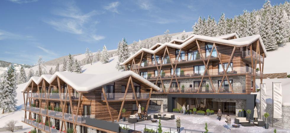 Nový 4* resort apartmánů v oblasti Ski-Circus